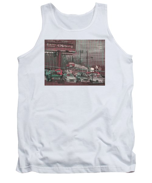 Tank Top featuring the painting The Boneyard by Donald Maier