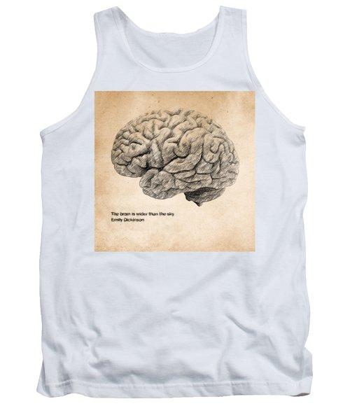 The Brain Is Wider Than The Sky Tank Top by Taylan Apukovska