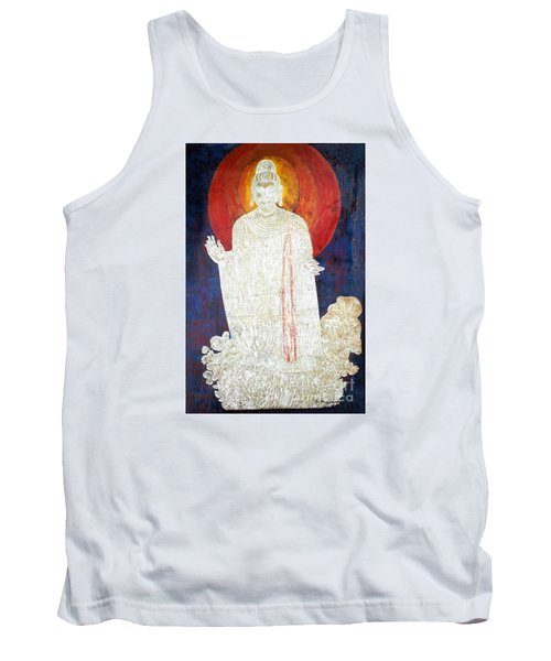 Tank Top featuring the painting The Buddha's Light by Fei A