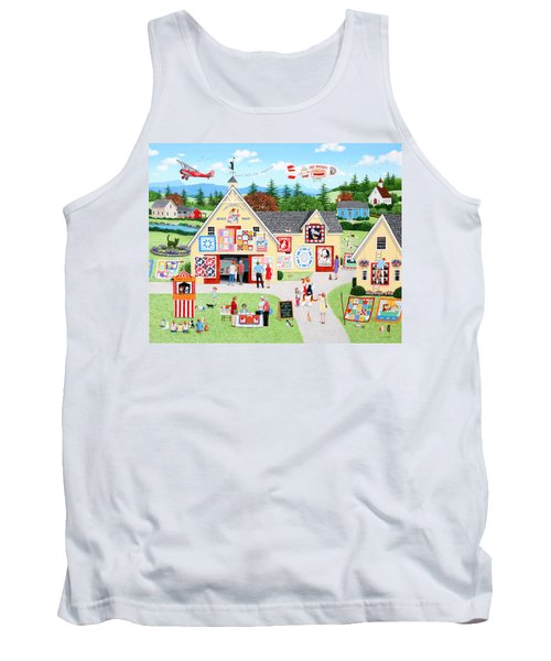 The Calico Cat Quilt Shop Tank Top