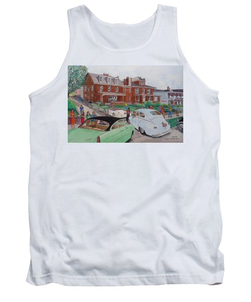 The Car Movers Of Phi Sigma Kappa Osu 43 E. 15th Ave Tank Top by Frank Hunter