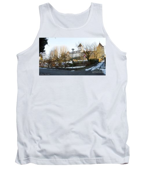 Tank Top featuring the photograph The Castle In Winter Light by Felicia Tica