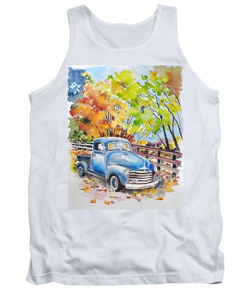 The Old Chevy In Autumn Tank Top