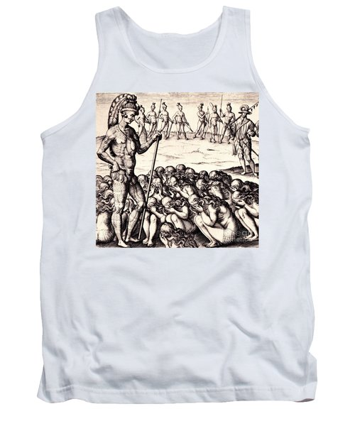 Tank Top featuring the drawing The Chieffe Applyed To By Women by Peter Gumaer Ogden