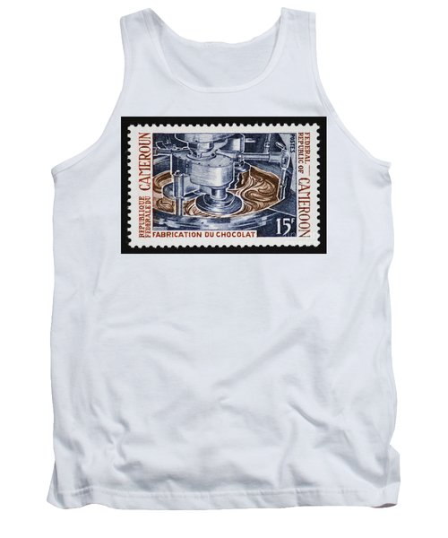 The Chocolate Factory Vintage Postage Stamp Tank Top by Andy Prendy