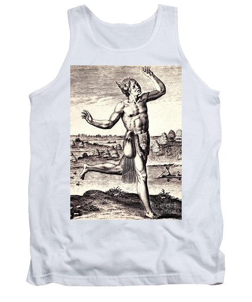 Tank Top featuring the drawing The Conjurers Use Strange Gestures by Peter Gumaer Ogden