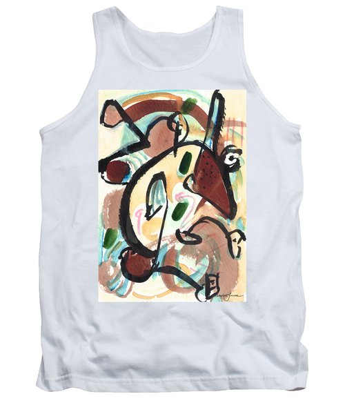 Tank Top featuring the painting The Conversation 2 by Stephen Lucas