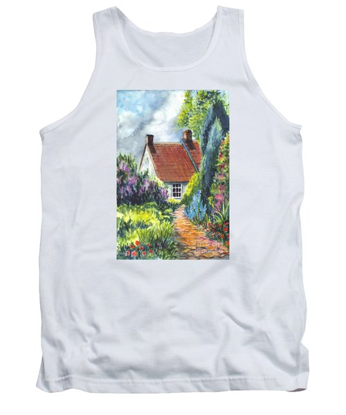 The Cottage Garden Path Tank Top by Carol Wisniewski