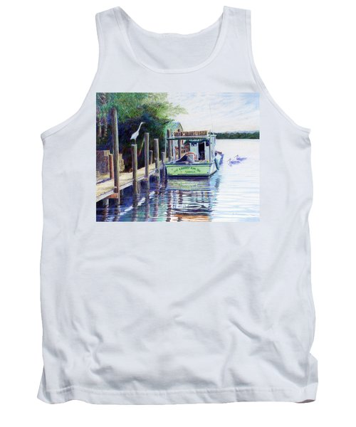 Tank Top featuring the painting The Crabby Kim by Roger Rockefeller