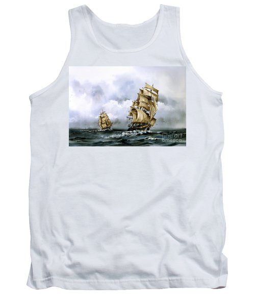 The Cutty Sark And The Red Clipper Tank Top