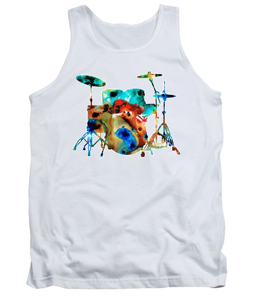 The Drums - Music Art By Sharon Cummings Tank Top