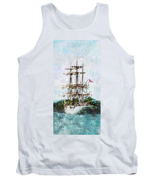 Tank Top featuring the photograph Tall Ship Eagle Has Landed by Marianne Campolongo