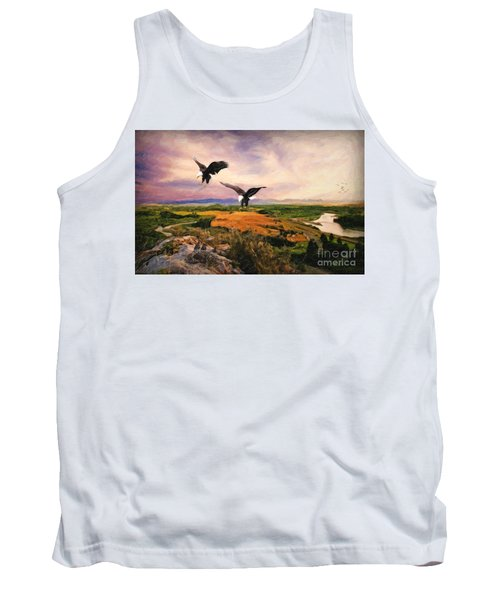 Tank Top featuring the digital art The Eagle Will Rise Again by Lianne Schneider