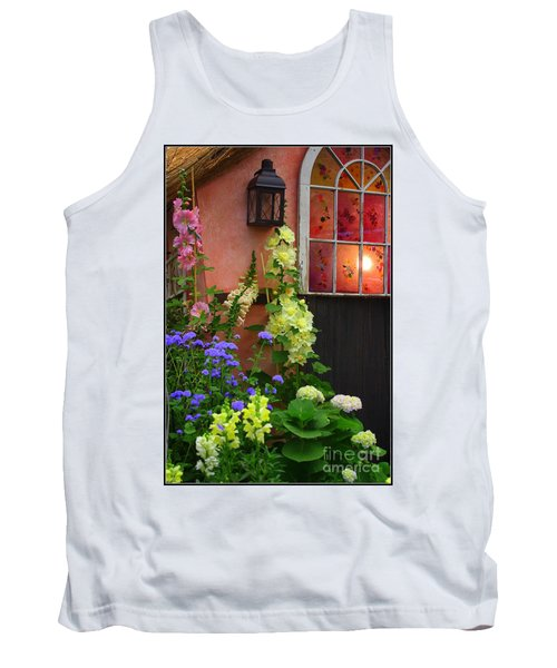 The English Cottage Window Tank Top by Dora Sofia Caputo Photographic Art and Design