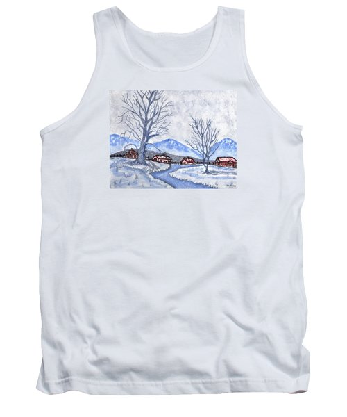 Tank Top featuring the painting The Farm Life by Connie Valasco