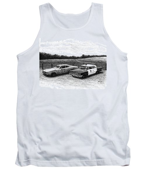 The General Lee And Barney Fife's Police Car Tank Top