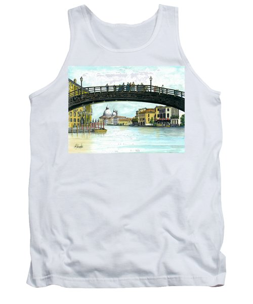 Tank Top featuring the painting The Grand Canal Venice Italy by Albert Puskaric