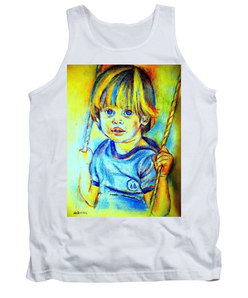 Tank Top featuring the drawing The Hammock by Helena Wierzbicki