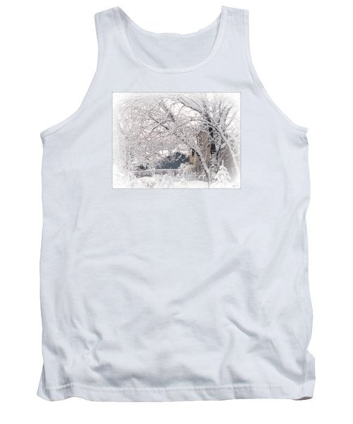 Tank Top featuring the photograph The Last Snow Storm by Kay Novy