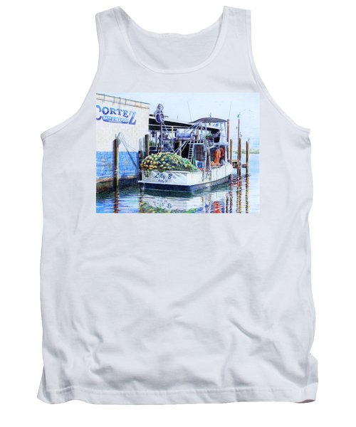 Tank Top featuring the painting The Lily B by Roger Rockefeller