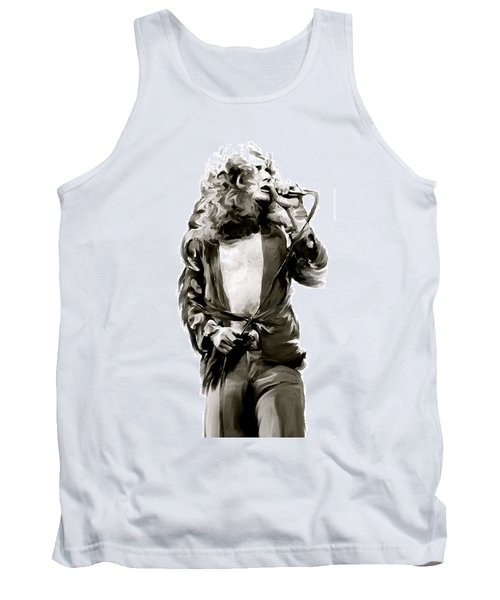 The Lion  Robert Plant Tank Top by Iconic Images Art Gallery David Pucciarelli