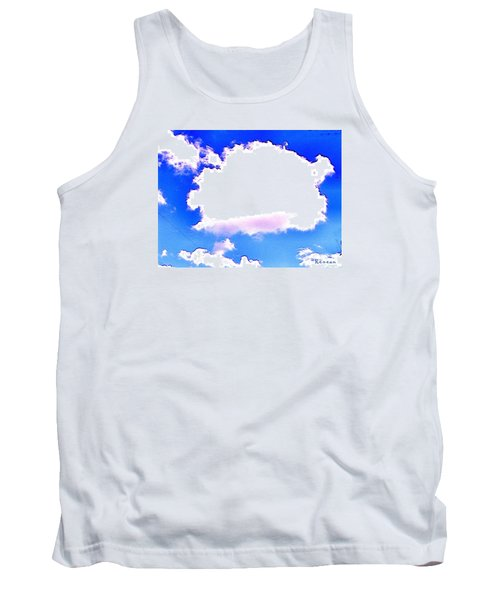 Tank Top featuring the photograph The Little White Cloud That Cried by Sadie Reneau