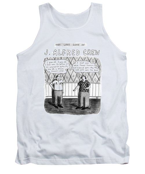 The Love Song Of J. Alfred Crew Tank Top