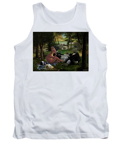 The Luncheon On The Grass With Dinosaurs Tank Top