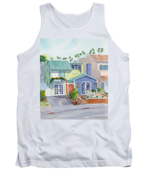 The Most Colorful Home In Belmont Shore Tank Top by Debbie Lewis