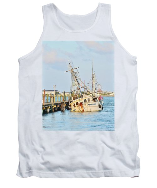 The New Hope Sunken Ship - Ocean City Maryland Tank Top