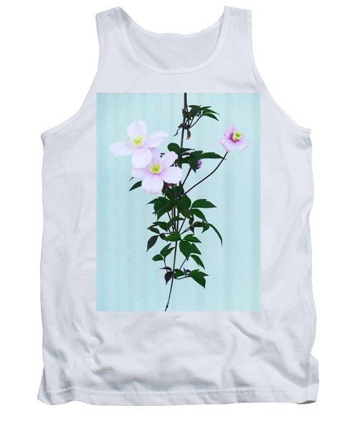 The Pink Clematis Tank Top by Steve Taylor