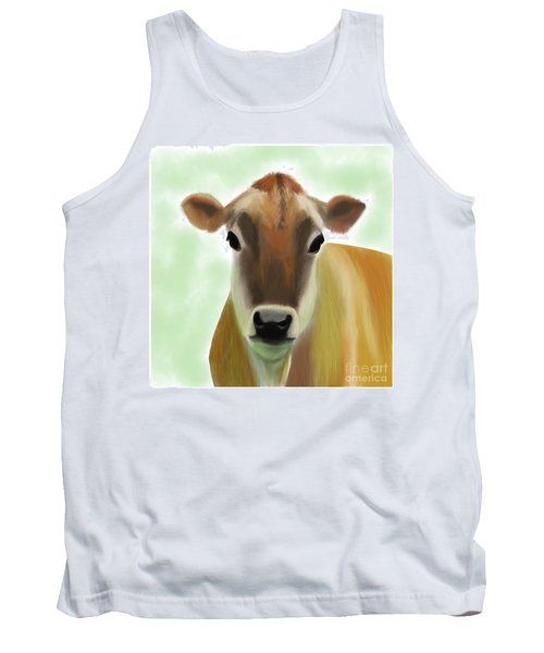 The Pretty Jersey Cow  Tank Top