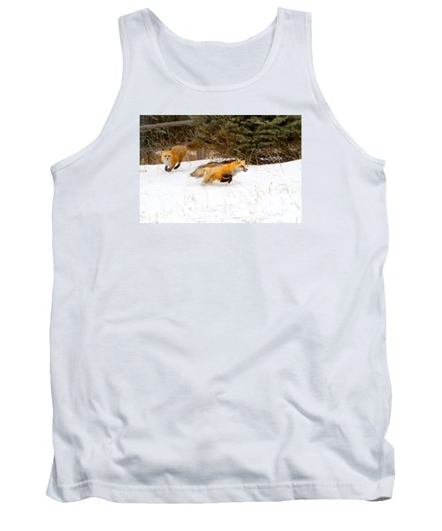The Race Is On Tank Top by Jim Garrison