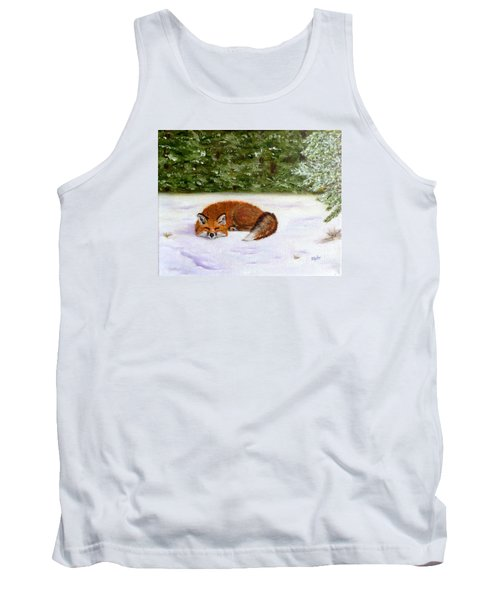 The Red Fox Of Winter Tank Top