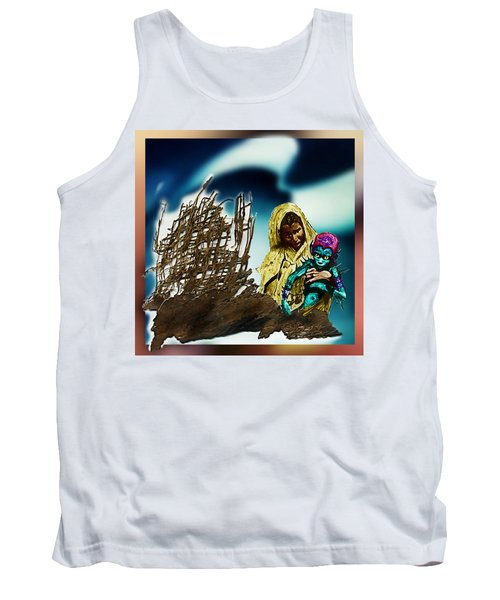 Tank Top featuring the photograph The Rescued  Alien  Child by Hartmut Jager