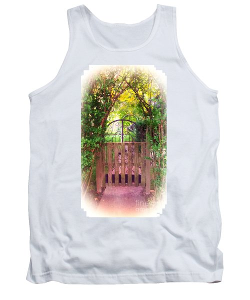 The Secret Gardens Gate Tank Top by Becky Lupe