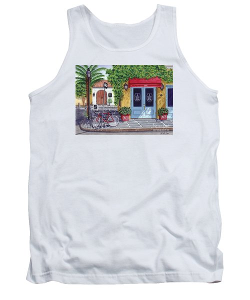 Tank Top featuring the painting The Snob Restaurant by Val Miller