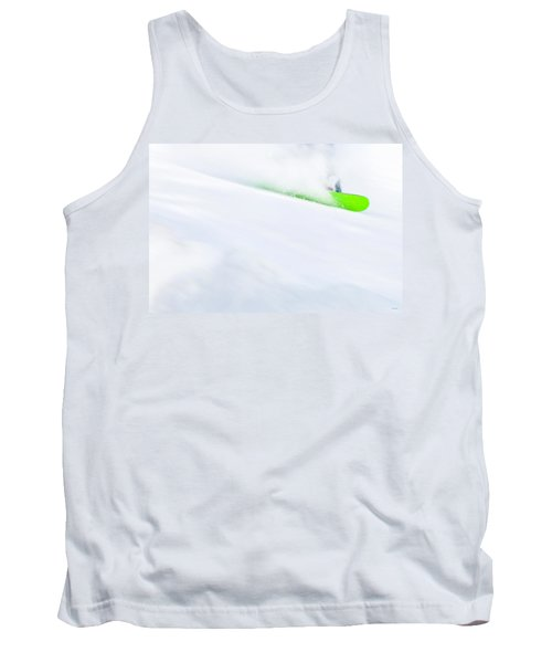 The Snowboarder And The Snow Tank Top