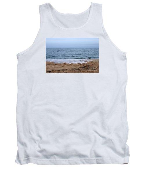 The Splash Over On A Sandy Beach Tank Top by Eunice Miller