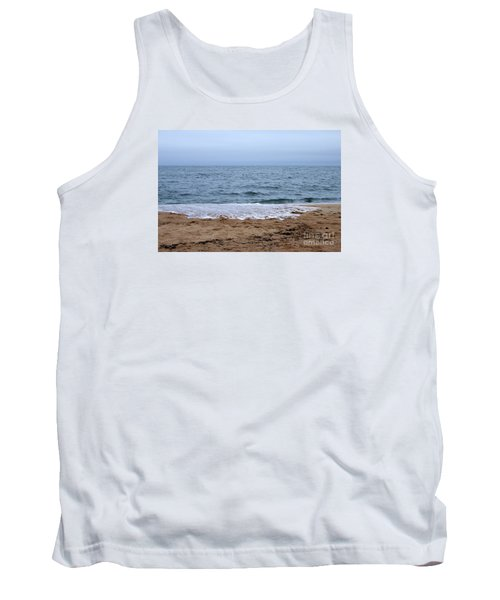 The Splash Over On A Sandy Beach Tank Top