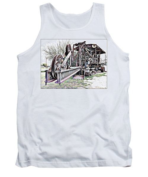 The Steam Shovel Tank Top by Glenn McCarthy Art and Photography