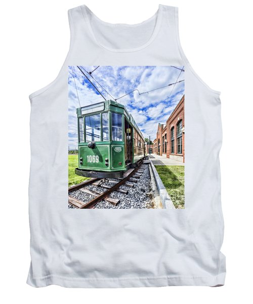 The Stib 1069 Streetcar At The National Capital Trolley Museum I Tank Top