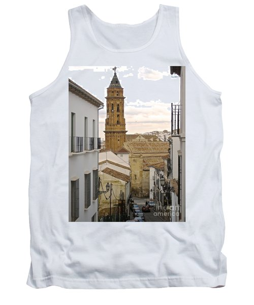 Tank Top featuring the photograph The Town Tower by Suzanne Oesterling