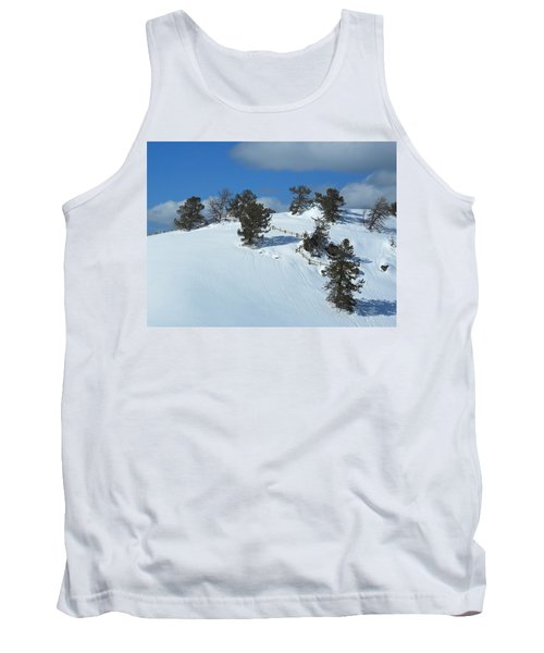 Tank Top featuring the photograph The Trees Take A Snow Day by Michele Myers
