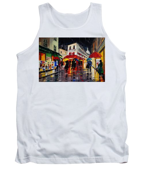 The Umbrellas Of Montmartre Tank Top