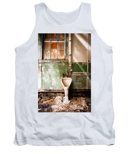 Tank Top featuring the photograph The Urinal by Gary Heller