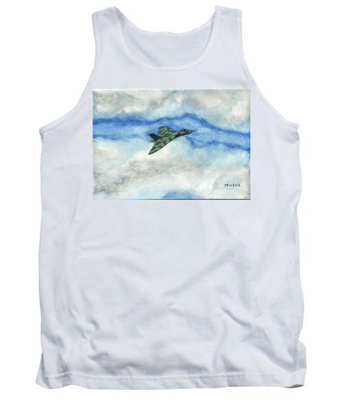 Tank Top featuring the painting The Vulcan Bomber by John Williams