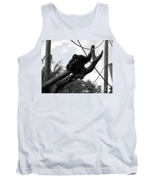 Tank Top featuring the photograph Thinking Of You Black And White by Joseph Baril