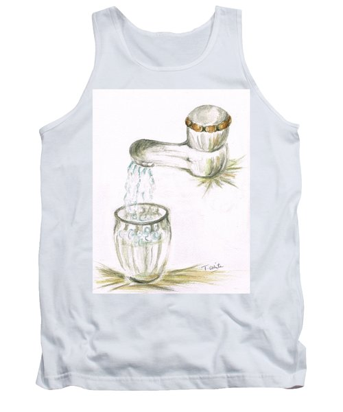 Tank Top featuring the painting Thirsty Of Water by Teresa White