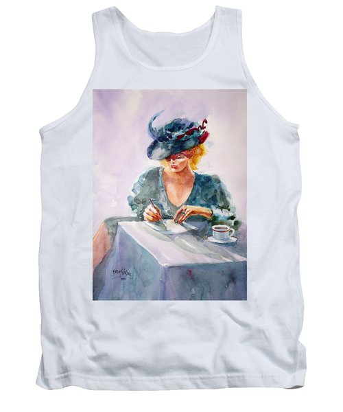 Tank Top featuring the painting Thoughtful... by Faruk Koksal
